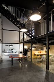 warehouse style lighting. Large Industrial Style Focusse Lighting Inside The PBlok Office Warehouse 1