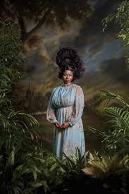 """The Terrier and Lobster: """"Kehinde Wiley's Spring"""": Ena Johnson, Candice  Stevens, Dacia Carter, Treisha Lowe, Shantavia Beale, and Khalidiah Asante  by Kehinde Wiley for New York Magazine February 9, 2015"""