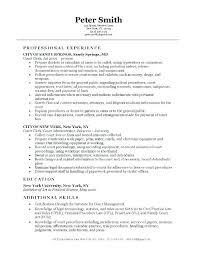 Office Clerk Resume Sample Medical Clerical Resume Office Assistant