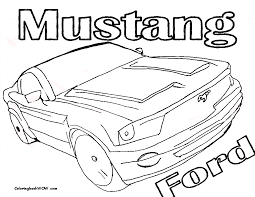 sheets for coloring mustang sports car coloring page at coloring pages book