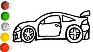 Vẽ ô tô đơn giản - cách vẽ ô tô và các trang tô màu cho trẻ em - YouTube