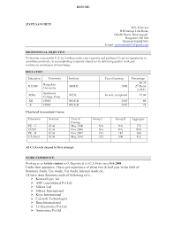 Fancy Sample Cv Chartered Accountant India Inspiration Example