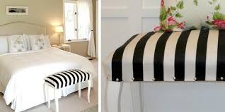 diy bedroom bench. DIY Striped Upholstered Bench:A Bench Will With Out Any Doubt Stand Magnificently In Your Bedroom, You Only Need To Check This Diy Bedroom