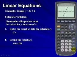 graph a linear equation using the ti83