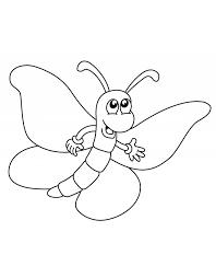 Disegno Di Happy Butterfly Da Colorare Per Bambini