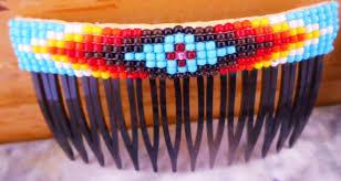 Navajo bead designs Looming Kjhpn100x Navajo Traditional Design Multi Color Beaded Hair Combs Pueblodirectcom Kjhpn100x Navajo Traditional Design Multi Color Beaded Hair Combs