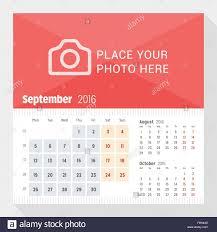 3 Page Calendar Design September 2016 Desk Calendar For 2016 Year Week Starts