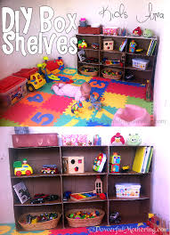 how to make a shelf out of cardboard boxes kids area diy image to