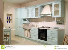country style kitchen furniture. Country Style Cyan Kitchen Style Cyan Kitchen Stock Photo - Image:  33808220 Country Furniture E