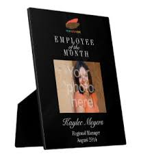 Employee Of The Month Photo Frame Employee Of The Month Photo Plaques Zazzle