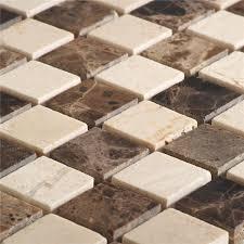 Marmor Naturstein Mosaik Fliesen Beige Braun Mix - TG15026m