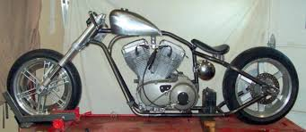 rigid chopper bobber custom motorcycle