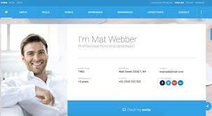 Business Card Website Template Free Virtual Business Card Vcard