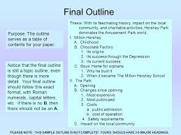 getting started research paper ppt video online  final outline