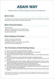 work philosophy example corporate philosophy and logo about us asahi holdings