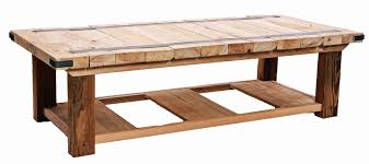 Cipre Wood Plank Coffee Table 1