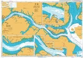 British Admiralty Nautical Chart 4044 Singapore And
