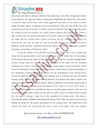 media and criminal justice essay sample after the complete 3