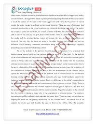 media and criminal justice essay sample after the complete 3