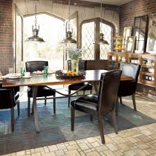 industrial dining room table and chairs. Lighting:Likable Industrial Dining Room Lighting Metal Table Furniture Sets Pendant Style Set Farmhouse Ideas And Chairs