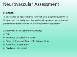 Peripheral Pulses Charting Neurovascular Assessment