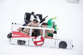Cardboard Box Sled Design Cardboard Sled Race Winterfest Grand Haven