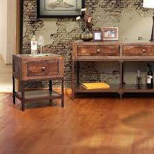 International Furniture Direct Urban Gold Rustic Contemporary End