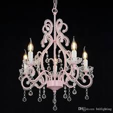 european children s crystal chandelier french garden restaurant light pink wedding room pendant lamp princess room girls bedroom chandelier ceiling lights