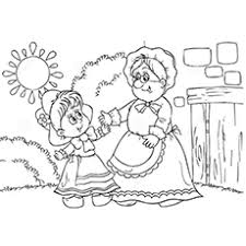 Top 10 Free Printable Little Red Riding Hood Coloring Pages Online