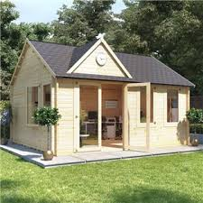 Home office in the garden Contemporary Billyoh Clubhouse Home Office Log Cabin Homedit Garden Offices For Sale Outdoor Office Shed Garden Cabins