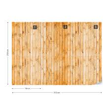 wooden planks texture wall paper mural