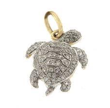 johnny s diamond johnny s diamond yellow gold diamond turtle pendant