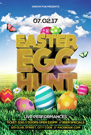 Easter Egg Hunt Flyer By Arrow3000 Graphicriver
