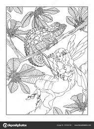 Kleurplaat De Fee Stockfoto Larisakuzovkova 157033106