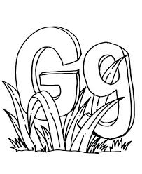 Letter G Coloring Page Teddy Bear Alphabet Letter G Coloring Pages