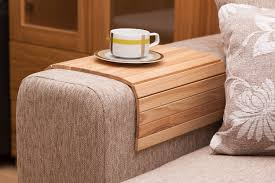 Sofa Armrest Table Pick Out Unique Sofa Tray Table And Enjoy Your Coffee By Liplap