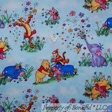 Winnie The Pooh Quilt Fabric | eBay & BonEful Fabric BTY Cotton Quilt Winnie the Pooh Baby Eeyore Piglet Spring  Flower Adamdwight.com