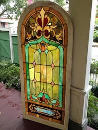 colored glass panels stained window frame windows large wall