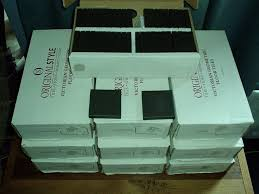 24 new boxes of victorian geometric floor tiles by original style co black square 6302v