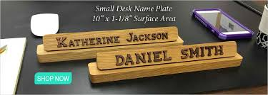 small desk name plate