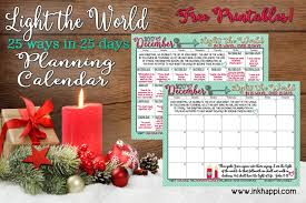 2018 Light The World Calendar Light The World Christmas 2017 Free Printable Calendars