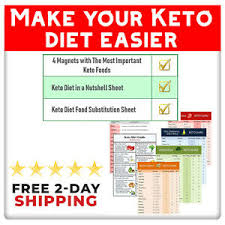 Details About Keto Diet Menu Food Weight Loss Guide Magnets Pack For Beginners Fast Shipping
