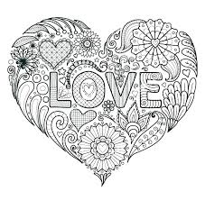 Love Coloring Pages For Adults Coloring Pages Of Love Hearts A Heart