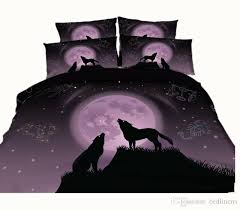 3 styles scorpio libra leo purple wolf 3d printed bedding sets twin full queen king size duvet covers pillowcases comforter animal galaxy canada 2019 from
