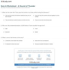 quiz worksheet a sound of thunder com print a sound of thunder by ray bradbury summary analysis theme worksheet
