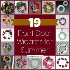 front door wreaths for summerHow to Make a Wreath for Summer  Craft Paper Scissors