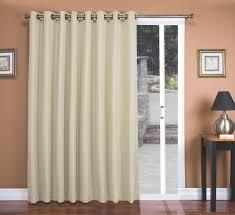 Image of: Silk Sliding Door Curtains