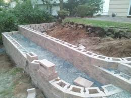 Cheap Retaining Wall Ideas   What caused movement in new retaining wall?