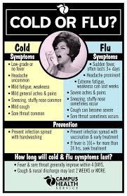 Cold Symptoms Vs Flu Symptoms Chart Pin On Chai Tea