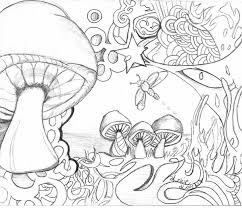 Trippy Mushroom Drawing At Getdrawingscom Free For Personal Use
